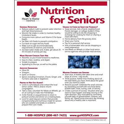 Nutrition for Seniors